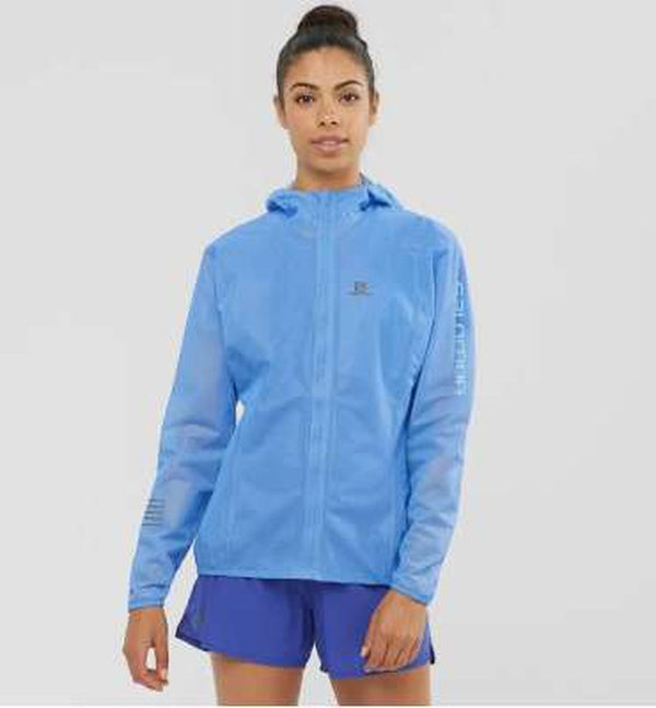 Salomon Womens Lightning Race Waterproof Jacket-Blue Mountains Running Company