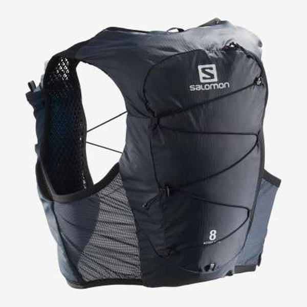 Salomon_Hydration_Pack_Womens_Active_Skin_8_Set_Ebony_Black-Blue Mountains Running Company