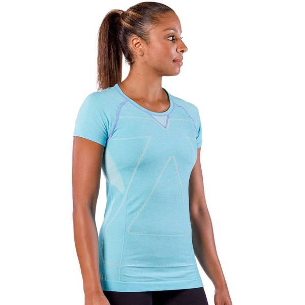 Zensah Womens Run Seamless Short Sleeve Top Aqua