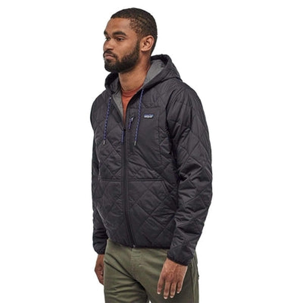 Patagonia Mens Quilted Bomber Hoody-Blue Mountains Running Company