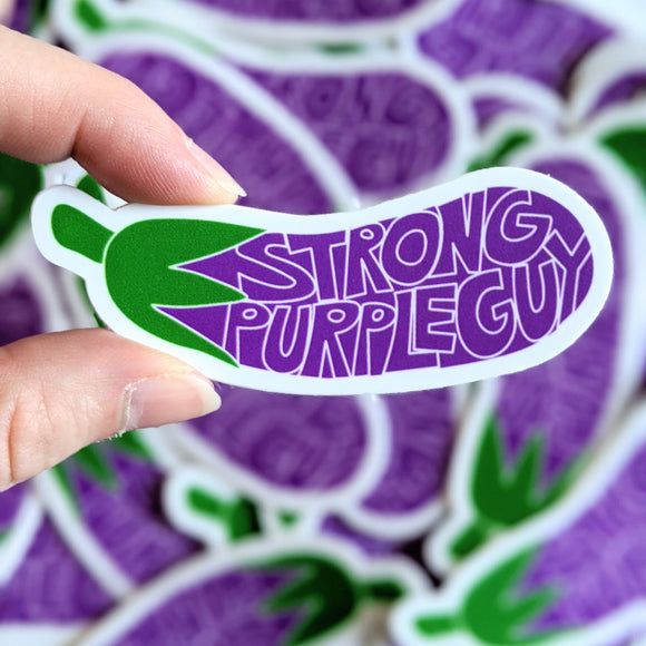Strong Purple Guy sticker