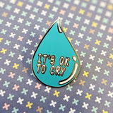 It's OK to Cry hard enamel pin (standard version) – SECONDS
