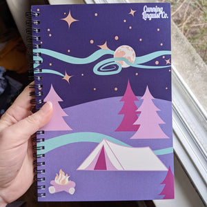 Moonlit Campsite notebook