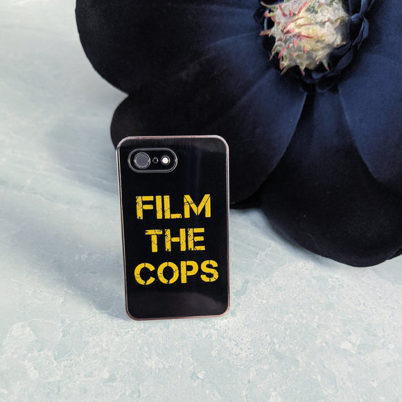 Film the Cops hard enamel pin benefiting the NAACP Legal Defense Fund