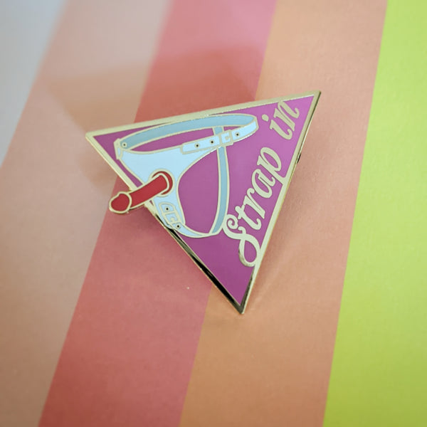 Harness hard enamel pin