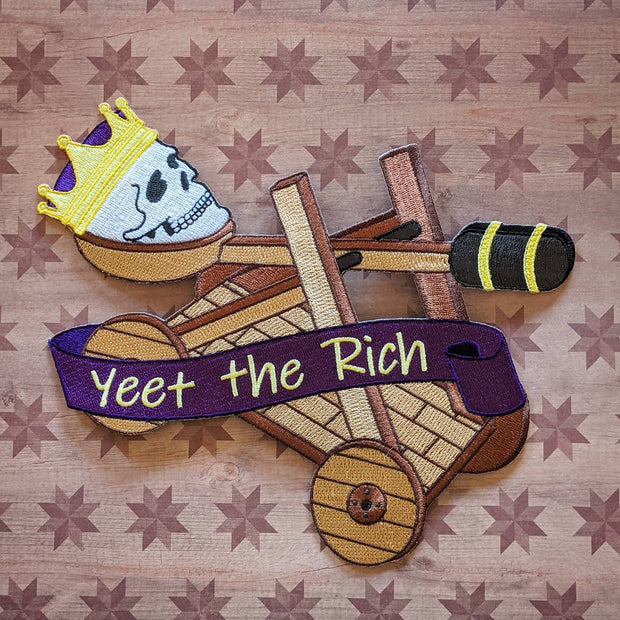 Yeet the Kings iron-on back patch 1