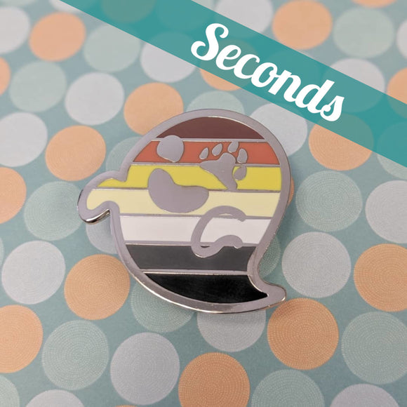 Bogeybear  (bear pride) hard enamel pin – SECONDS
