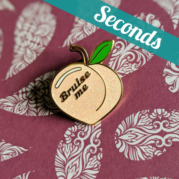 Bruise Me hard enamel glitter pin – SECONDS