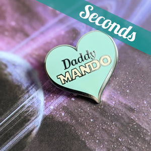 Daddy Mando hard enamel pin (The Child version) – SECONDS