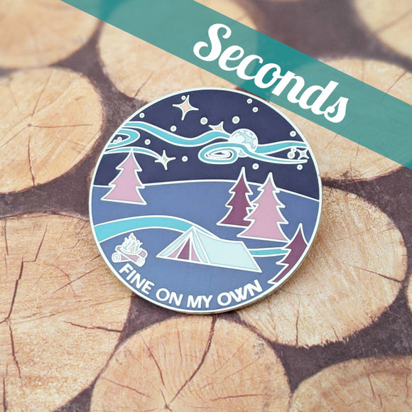 Fine On My Own hard enamel pin (dreamscape version) – SECONDS
