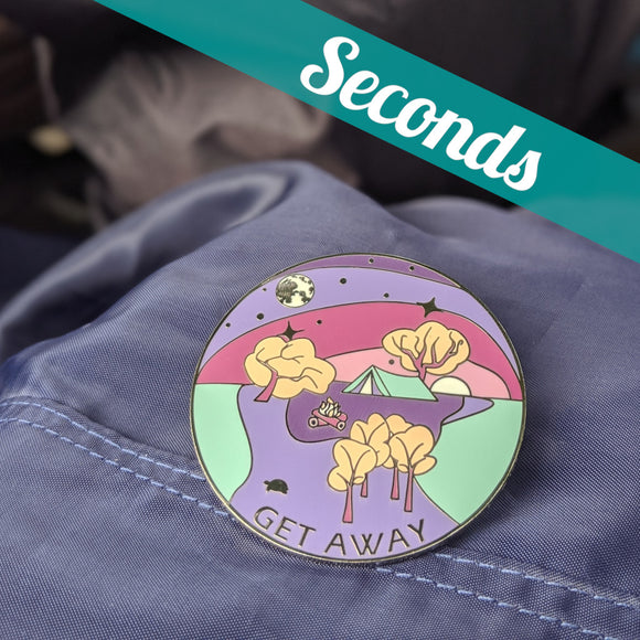 Get Away hard enamel pin (dreamscape version) – SECONDS