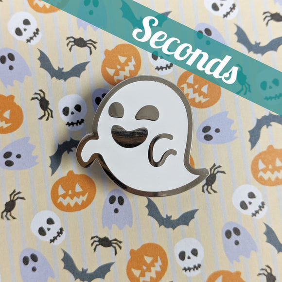 Glow-in-the-dark Ghost hard enamel pin – SECONDS