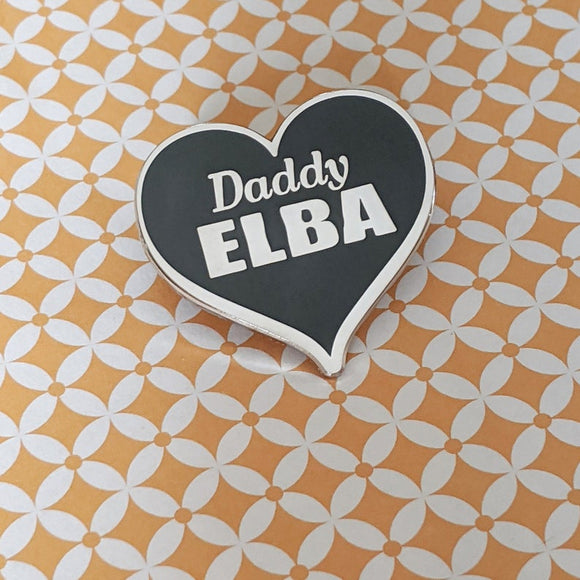 Daddy Elba hard enamel pin