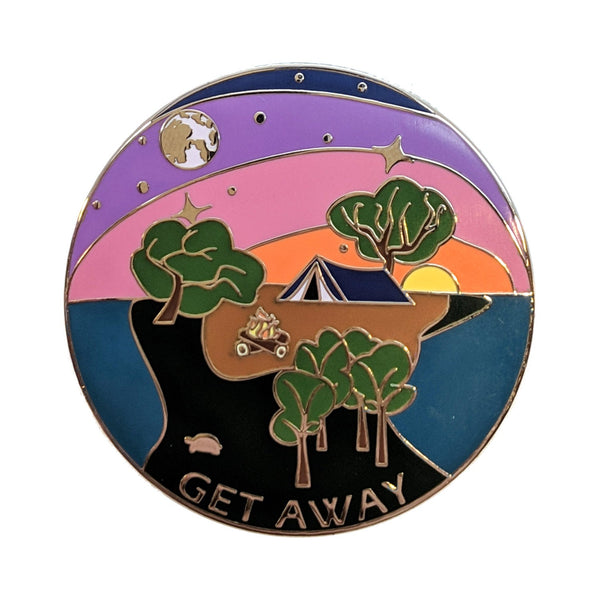 Get Away hard enamel pin