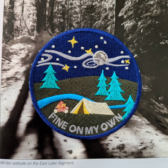 Fine On My Own sew-on patch