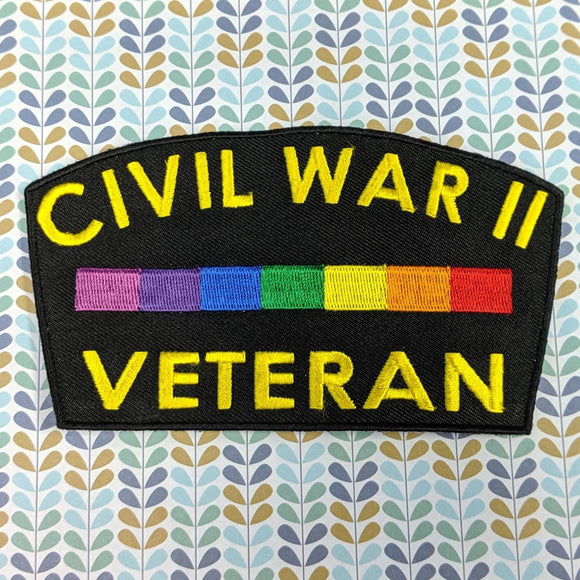 Second Civil War Veteran sew-on patch