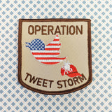 Operation: Tweet Storm sew-on patch