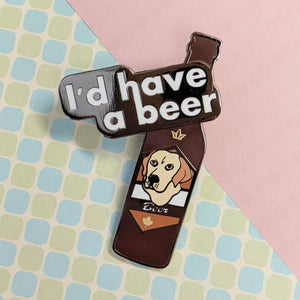 Have a Beer hard enamel pin