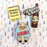 Women's Studies hard enamel pin – SECONDS