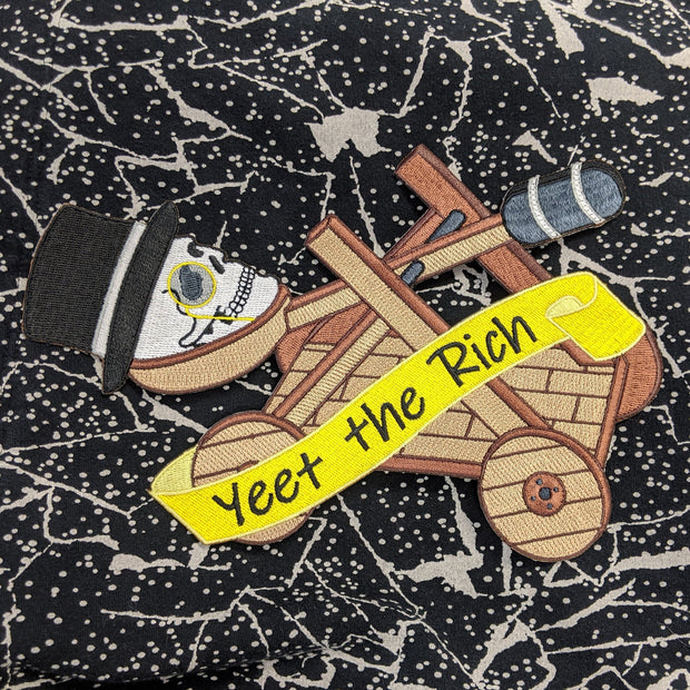 Yeet the Capitalists iron-on back patch 1