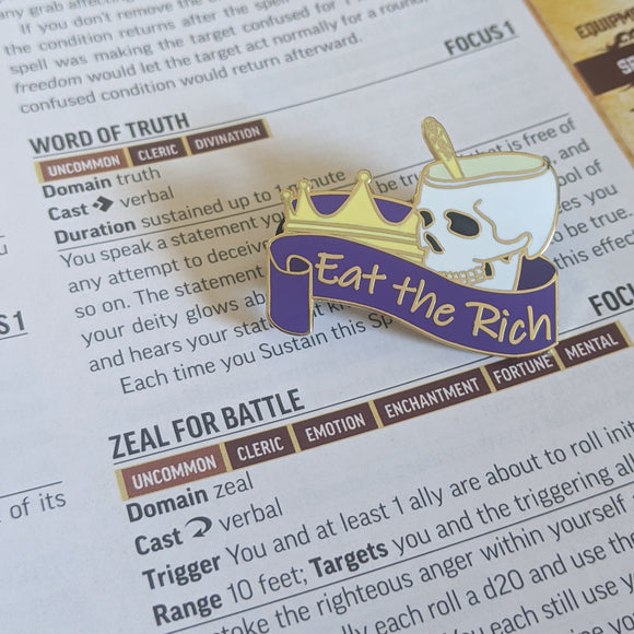 Eat the Kings hard enamel pin