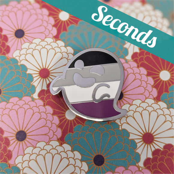 SECONDS: Ace Wraith (asexual pride) hard enamel pin