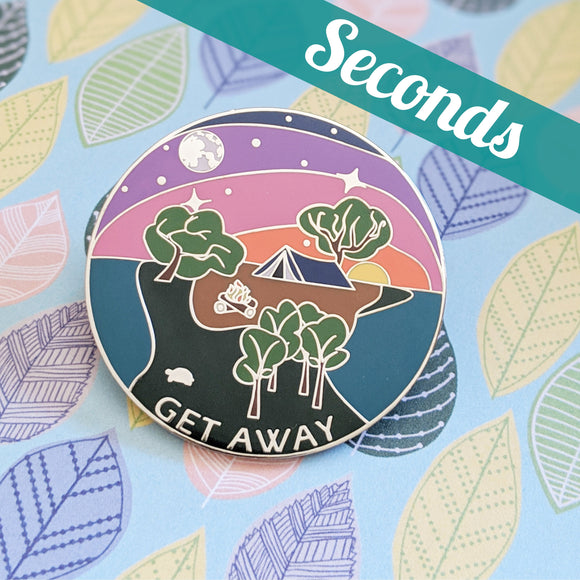 Get Away hard enamel pin – SECONDS