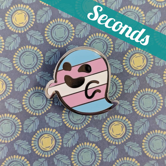 Transphantasm (transgender pride) hard enamel pin – SECONDS