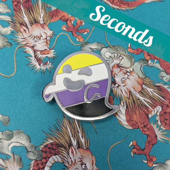 SECONDS: Nonbinarition (nonbinary pride) hard enamel pin