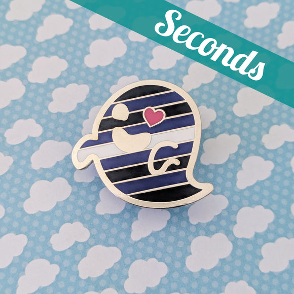 Leather Specter (leather/BDSM pride) hard enamel pin – SECONDS
