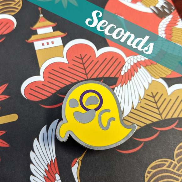 Interspooky (intersex pride) hard enamel pin – SECONDS