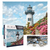 Puzzle-Harbour lighthouse