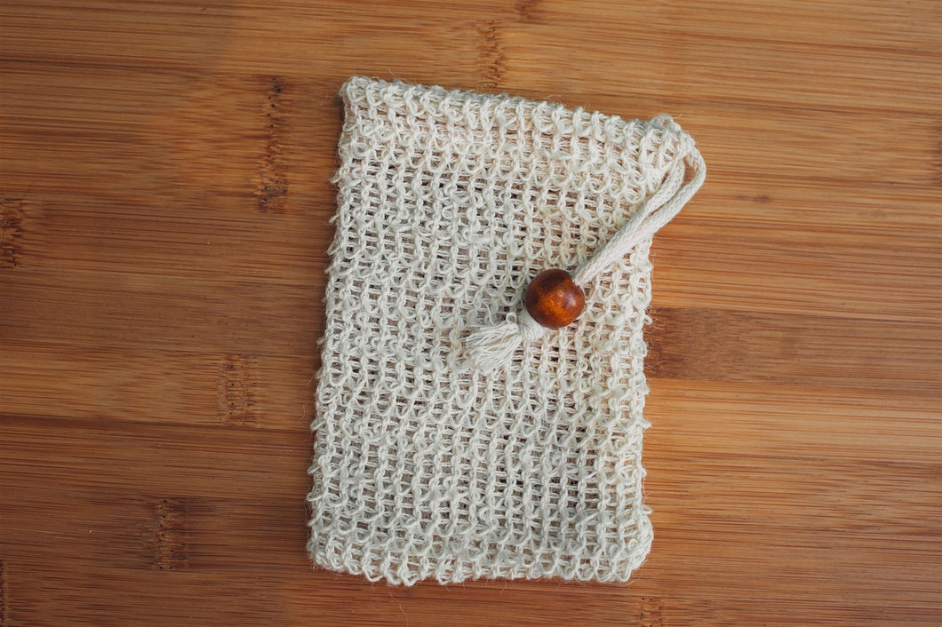 Sisal Scrubby Soap Bag