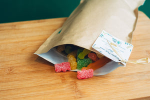 Small pouch of vegan pick and mix