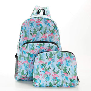 Flamingo Recycled Foldable Backpack