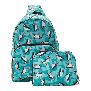 Puffin Recycled Foldable Backpack