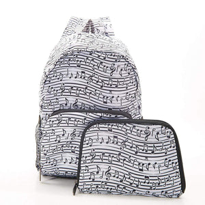 Music Note Recycled Foldable Backpack