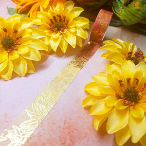 Sunflower Gold Foil Washi Tape 15mm