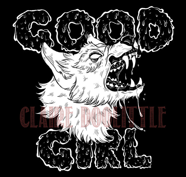 Good Girl Unisex Black Crewneck T-Shirt