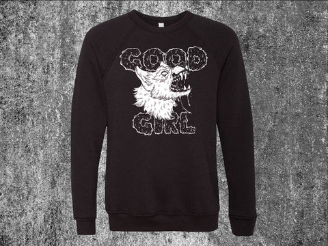 Good Girl Black Unisex Crewneck Sweatshirt