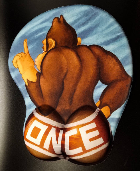 *PREORDER* Donkey Kong ONCE Booty 3D Mousepad