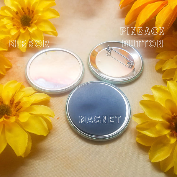 "P*ssy Power Button Magnet Mirror 2.25"" Circle"