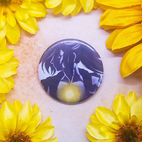 "Dororo Hyakkimaru Button Magnet Mirror 2.25"" Circle"