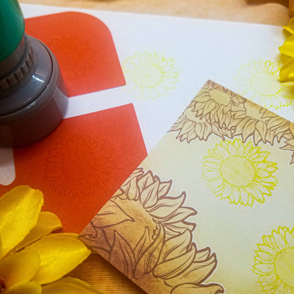 Sunflower Self Inking Stamp 1""