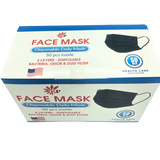 BLACK DENTAL MASK 4 LAYER