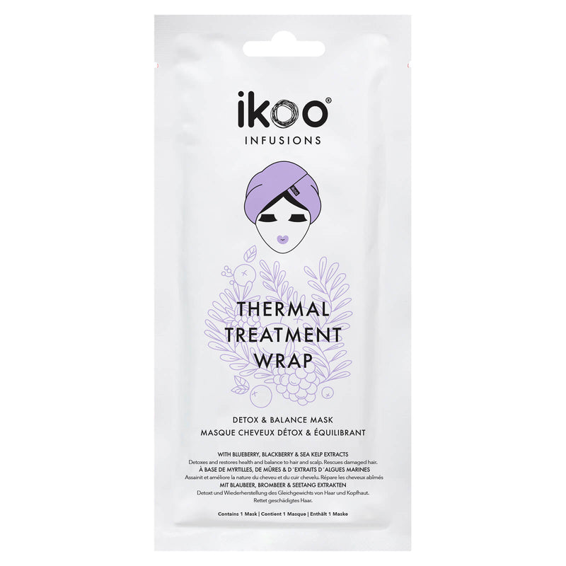 ikoo detox and belance thermal hair wrap mask