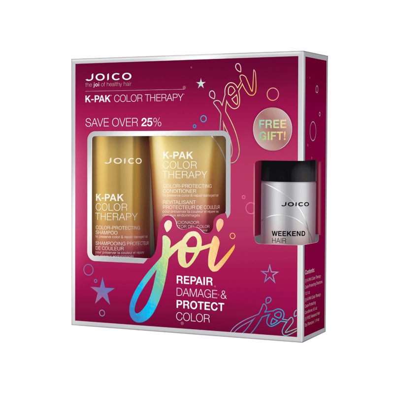 Joico K-Pak Color Therapy Shampoo, Conditioner, Dry Shampoo Trio