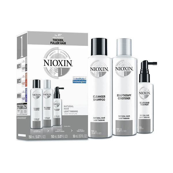 Nioxin Hair Care Kit System 1, Fine/Normal to Light Thinning, Natural Hair