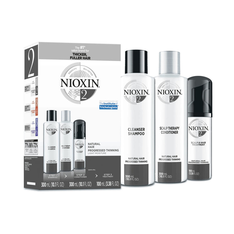 Nioxin Hair Care Kit System 2, Fine/Normal Hair with Progressed Thinning