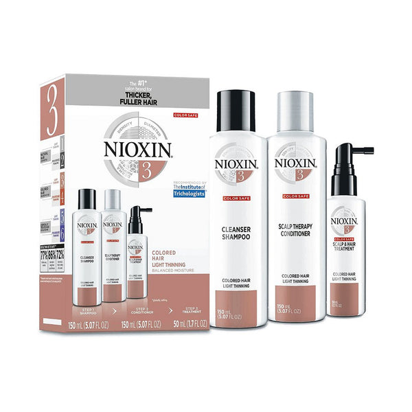 Nioxin Hair Care Kit System 3, Color Treated Hair with Normal to Light Thinning